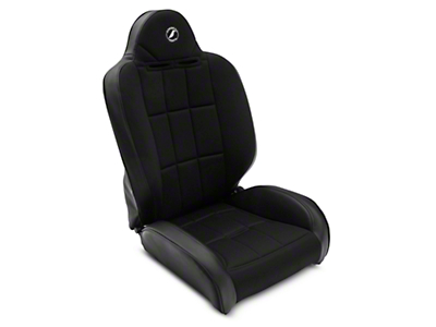 Corbeau Baja RS Suspension Seat - Black Vinyl/Cloth - Pair (87-18 Jeep Wrangler YJ, TJ & JK; Seat Brackets are Required for TJ & JK Models)