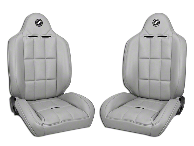 Corbeau Baja RS Suspension Seat - Gray Vinyl - Pair (87-18 Jeep Wrangler YJ, TJ, JK & JL)