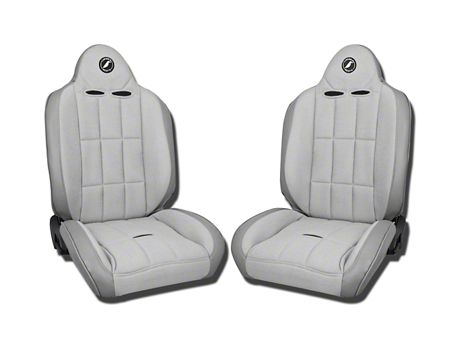 Corbeau Baja RS Suspension Seat - Gray Vinyl/Cloth - Pair (87-20 Jeep Wrangler YJ, TJ, JK & JL)