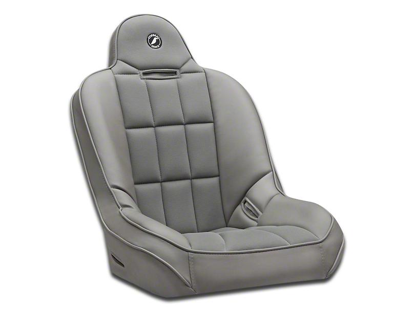 Corbeau Baja SS Suspension Seat; Gray Vinyl/Cloth (87-20 Jeep Wrangler YJ, TJ, JK & JL)