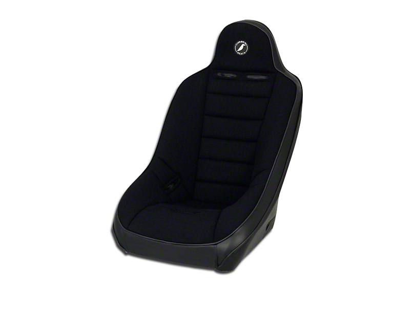 Corbeau Baja Ultra Suspension Seat - Black Vinyl/Cloth (87-19 Jeep Wrangler YJ, TJ, JK & JL)