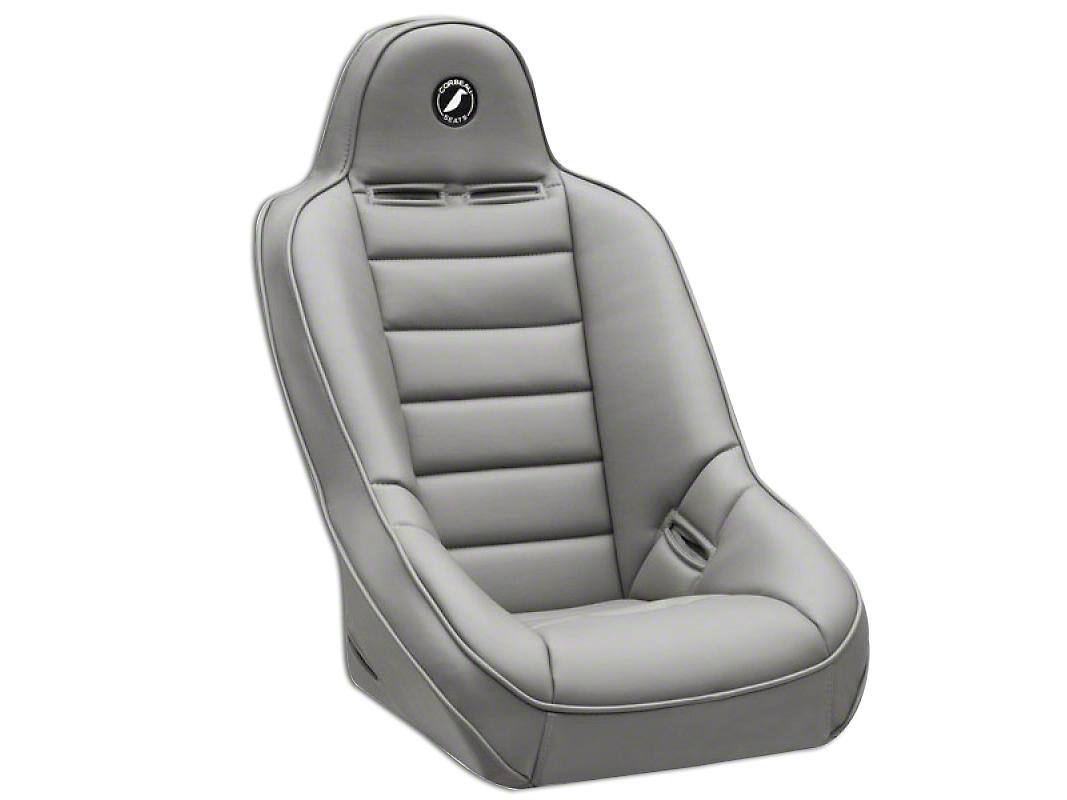 Corbeau Baja Ultra Suspension Seat - Grey Vinyl (87-18 Wrangler YJ, TJ & JK)