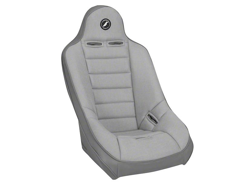 Corbeau Baja Ultra Suspension Seat - Gray Vinyl/Cloth (87-20 Jeep Wrangler YJ, TJ, JK & JL)
