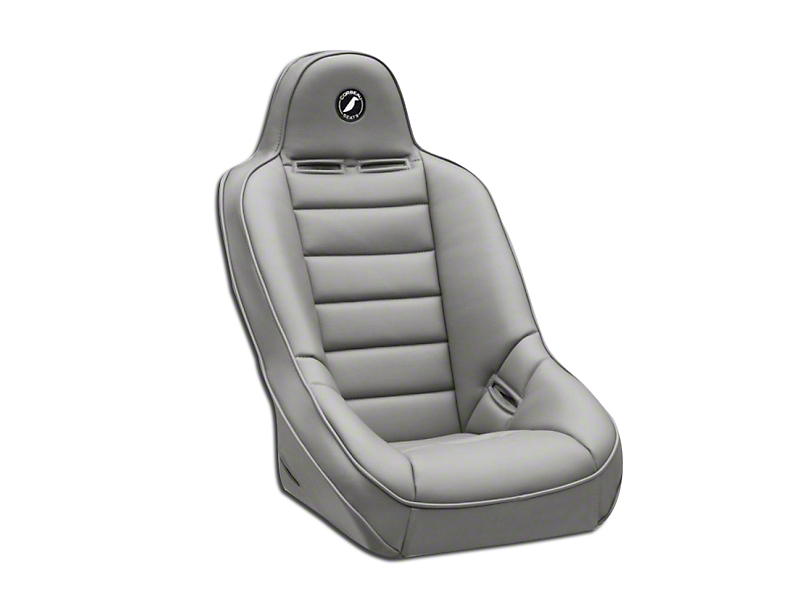 Corbeau Baja Ultra Wide Suspension Seat - Gray Vinyl (87-18 Jeep Wrangler YJ, TJ, JK & JL)