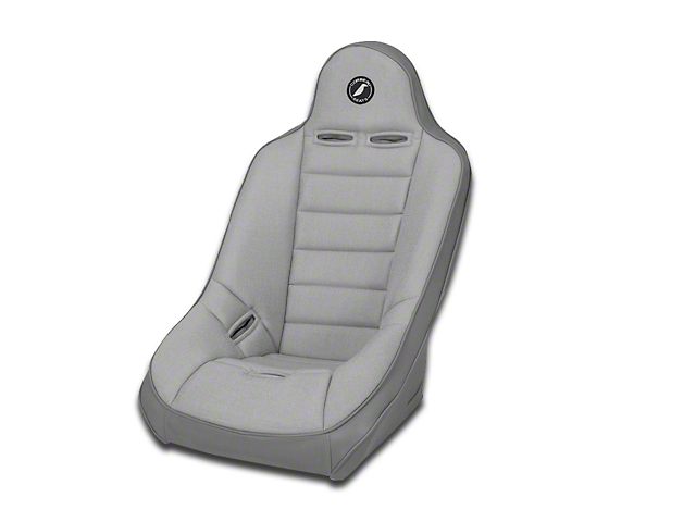 Corbeau Baja Ultra Wide Suspension Seat - Gray Vinyl/Cloth (87-18 Jeep Wrangler YJ, TJ, JK & JL)