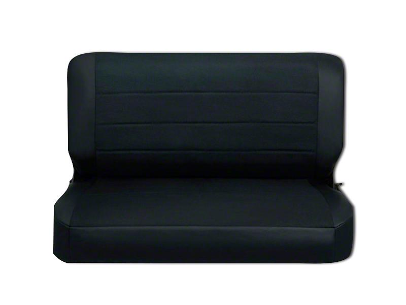 Corbeau Rear Seat Cover - Black Vinyl/Cloth (87-95 Wrangler YJ)