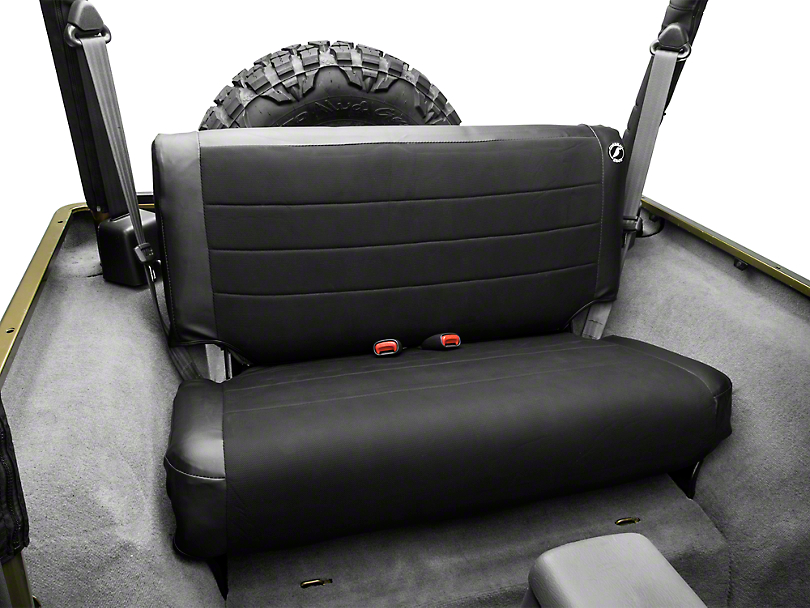 Corbeau Rear Seat Cover - Black Vinyl/Cloth (97-06 Jeep Wrangler TJ)