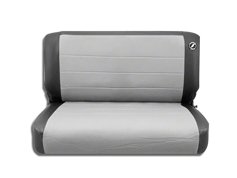 Corbeau Jeep Wrangler Rear Seat Cover Black Vinyl Gray