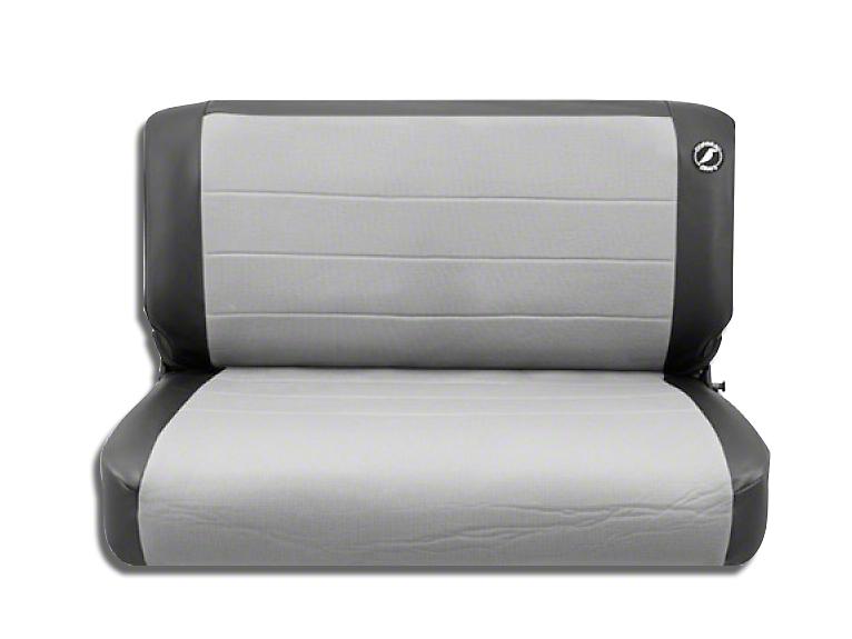 Corbeau Rear Seat Cover - Black Vinyl/Gray Cloth (87-95 Jeep Wrangler YJ)