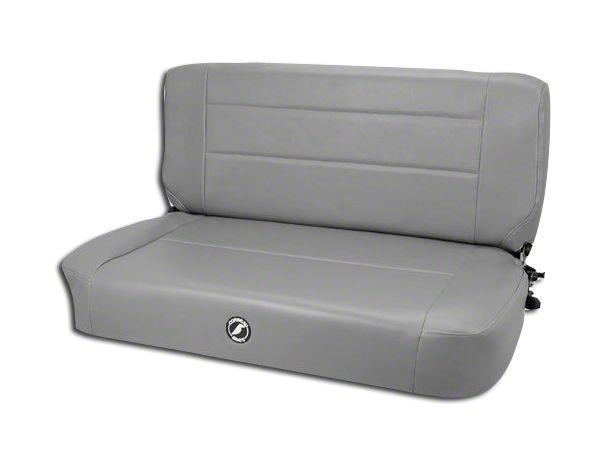 Corbeau Safari Fold & Tumble Seat - Gray Vinyl (87-95 Jeep Wrangler YJ)