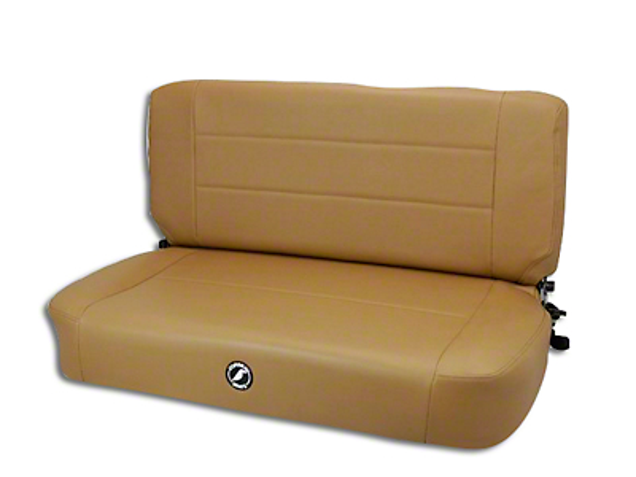 Corbeau Safari Fold & Tumble Seat - Spice Vinyl (87-95 Jeep Wrangler YJ)