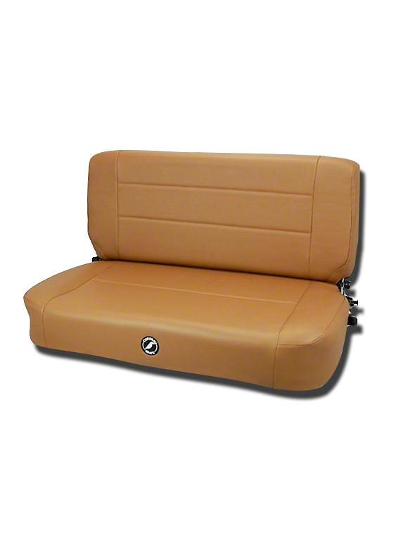 Corbeau Safari Fold & Tumble Seat - Tan Vinyl (87-95 Jeep Wrangler YJ)