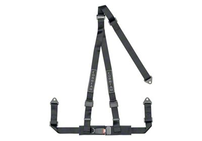 Corbeau 2 in. 3-Point Bolt-In Harness Belt - Black (87-19 Jeep Wrangler YJ, TJ, JK & JL)