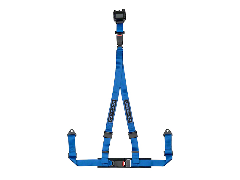 Corbeau 2 in. 3-Point Retractable Harness Belt - Blue (Universal Fitment)