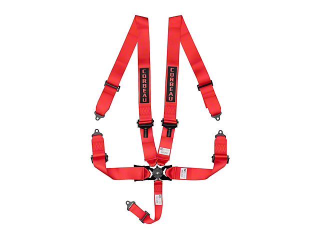 Corbeau 3-Inch 5-Point Camlock Harness Belt; Red (Universal Fitment)
