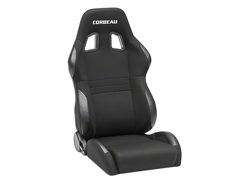 Corbeau A4 Wide Racing Seats - Black Cloth - Pair (87-18 Jeep Wrangler YJ, TJ & JK; Seat Brackets are Required for TJ & JK Models)