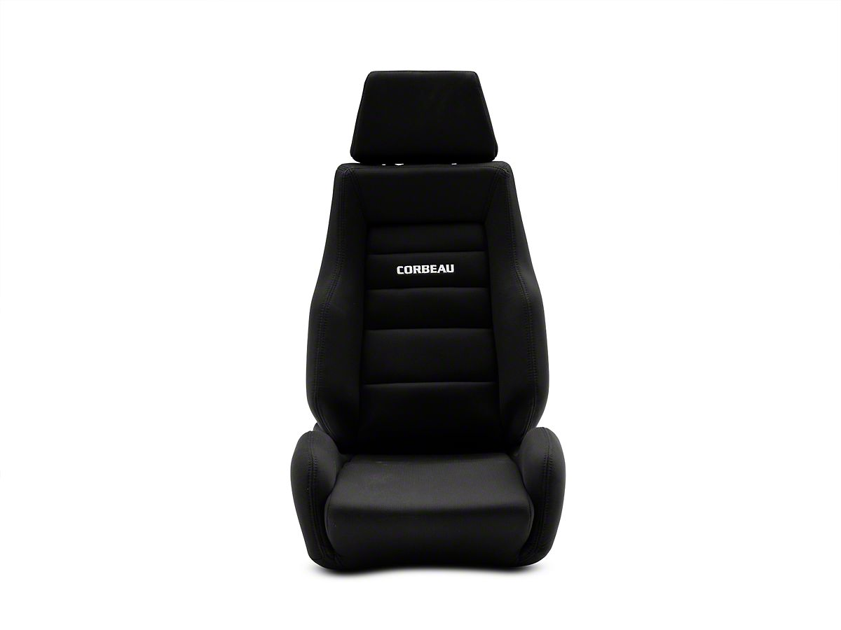 Corbeau GTS II Reclining Seat - Black Cloth (87-18 Jeep Wrangler YJ, TJ &  JK
