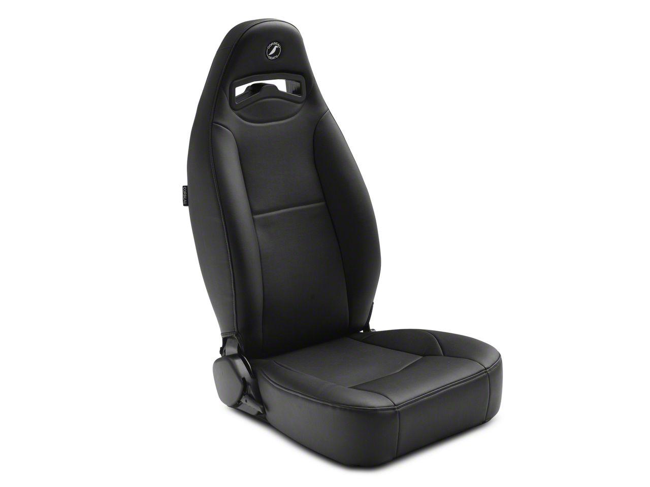 Corbeau Moab Reclining Seat - Black Vinyl - Pair (87-18 Jeep Wrangler YJ, TJ & JK; Seat Brackets are Required for TJ & JK Models)