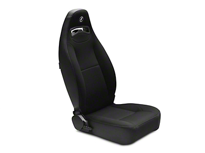 Corbeau Moab Reclining Seat - Black Vinyl/Cloth - Pair (87-18 Jeep Wrangler YJ, TJ & JK; Seat Brackets are Required for TJ & JK Models)