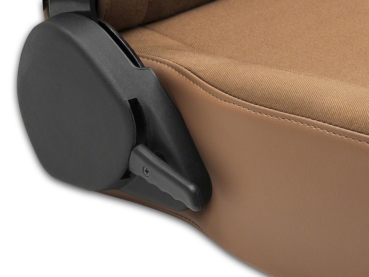 Corbeau Moab Reclining Seat - Tan Vinyl/Cloth - Pair (87-18 Wrangler YJ, TJ, JK & JL)