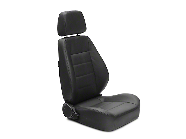 Corbeau Sport Reclining Seats - Black Leather - Pair (87-18 Jeep Wrangler YJ, TJ & JK; Seat Brackets are Required for TJ & JK Models)