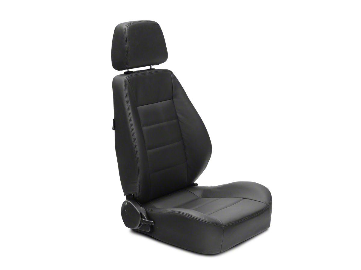 Corbeau Jeep Wrangler Sport Reclining Seats Black Leather Pair L90001pr 87 18 Jeep Wrangler Yj Tj Jk Seat Brackets Are Required For Tj Jk Models