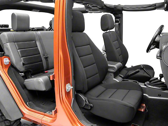 Corbeau Sport Reclining Seats - Black Neoprene - Pair (87-18 Jeep Wrangler YJ, TJ & JK; Seat Brackets are Required for TJ & JK Models)