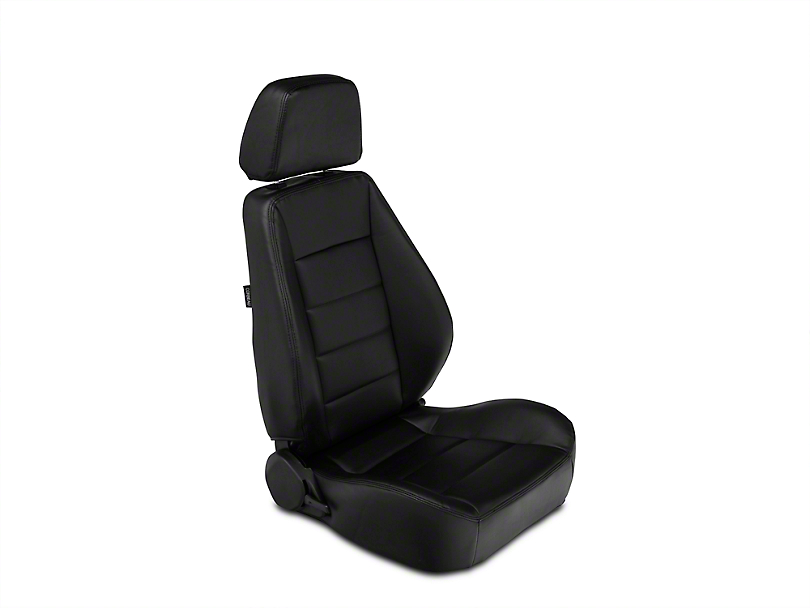 Corbeau Sport Seats Reclining Seats - Black Vinyl - Pair (87-18 Jeep Wrangler YJ, TJ & JK; Seat Brackets are Required for TJ & JK Models)