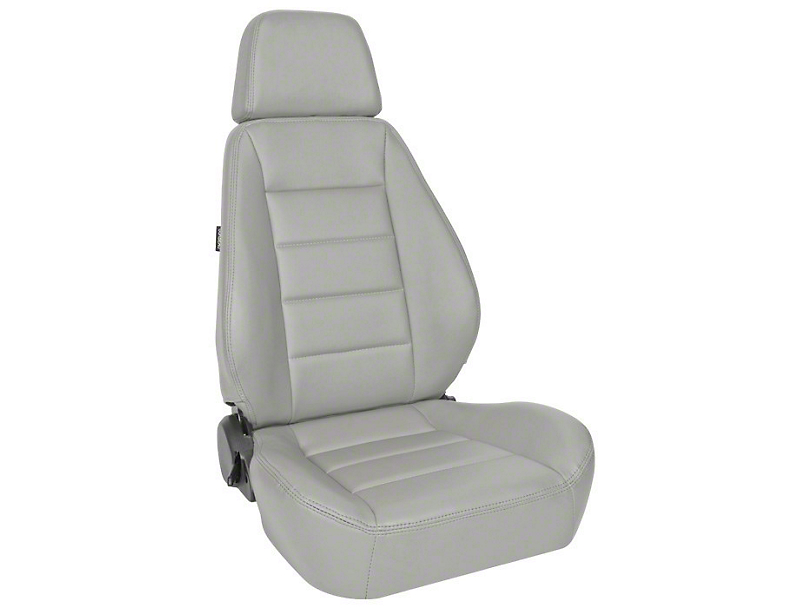 Corbeau Sport Reclining Seats - Gray Vinyl - Pair (87-18 Jeep Wrangler YJ, TJ & JK; Seat Brackets are Required for TJ & JK Models)