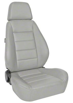 Corbeau Sport Seat Reclining Seat - Gray Vinyl - Pair (87-18 Wrangler YJ, TJ & JK; Seat Brackets are Required for TJ & JK Models)