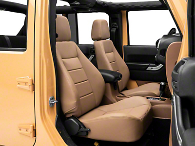 Corbeau Sport Seat Reclining Seat - Spice Vinyl - Pair (87-18 Jeep Wrangler YJ, TJ & JK; Seat Brackets are Required for TJ & JK Models)