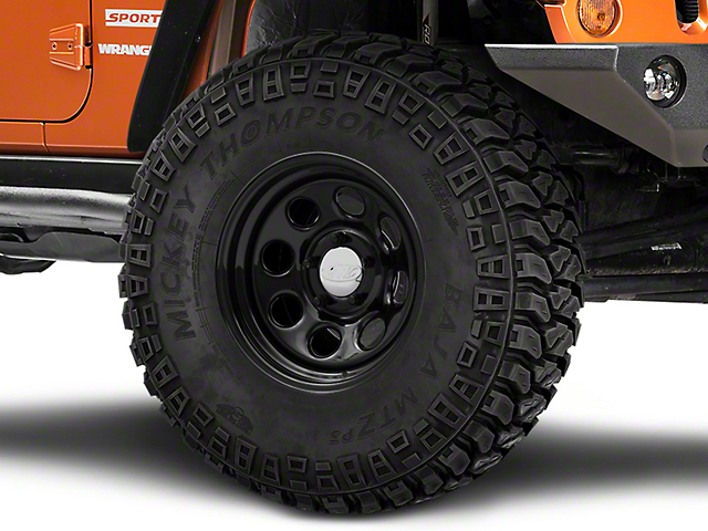 Raceline 81B Soft 8 Black Wheel; 16x8 (07-18 Jeep Wrangler JK)