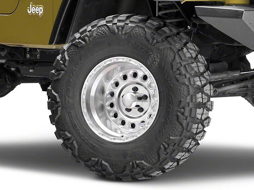 Raceline 887 Rockcrusher Polished Wheel - 15x10 (87-06 Jeep Wrangler YJ & TJ)