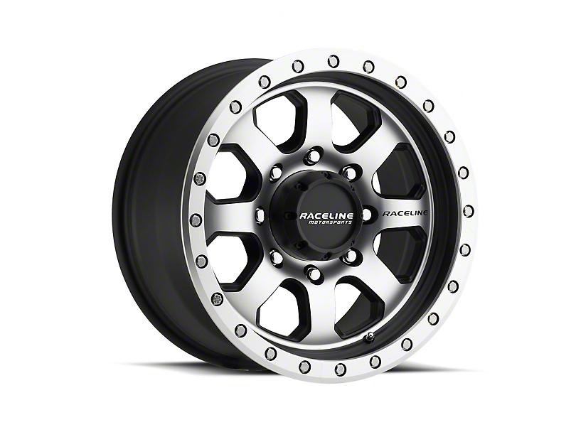 Raceline SL Avenger Black Machined Wheel; 17x9 (07-18 Jeep Wrangler JK)