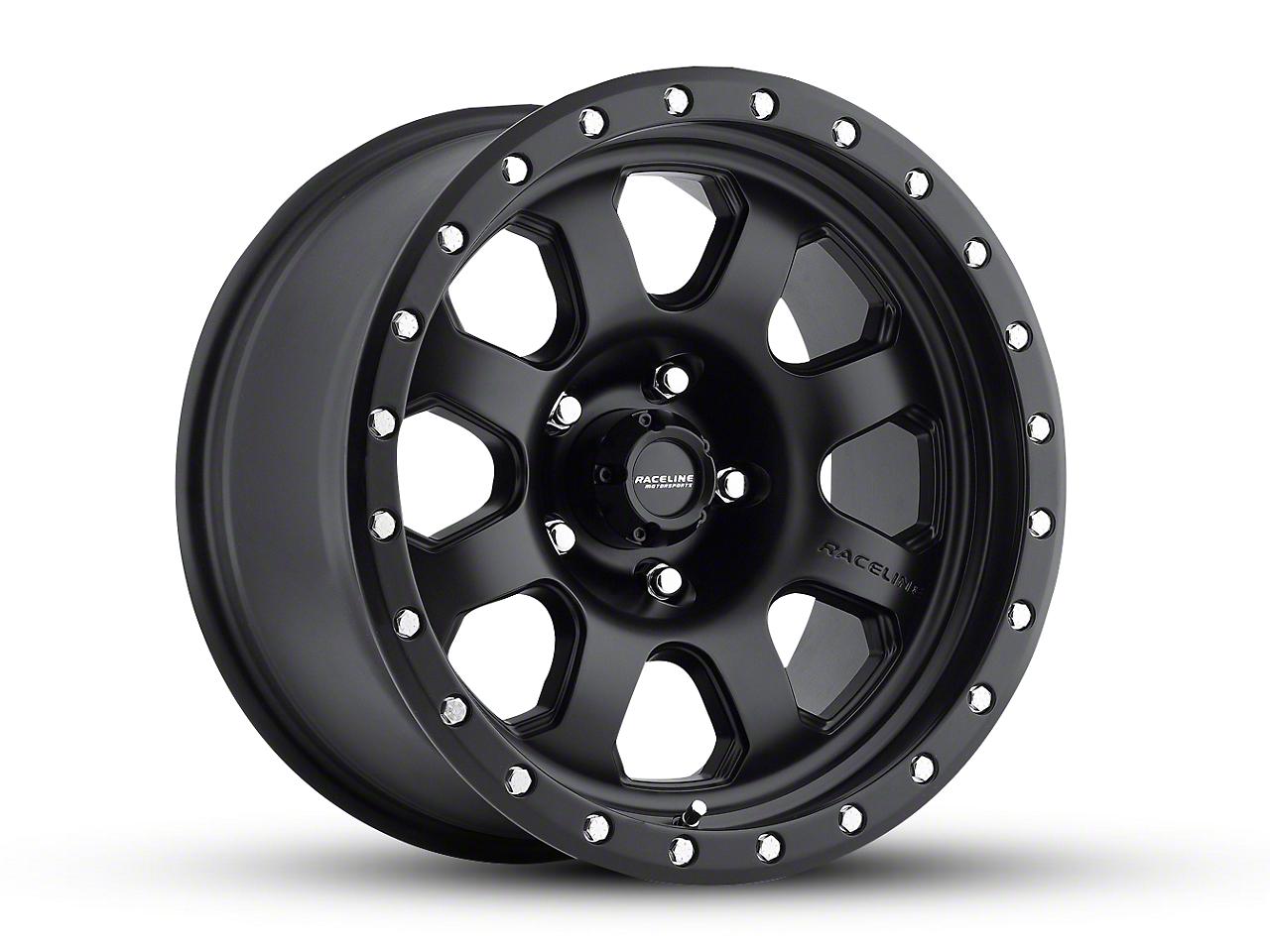 Raceline SL Avenger Black Wheel - 17x9 (07-18 Jeep Wrangler JK; 2018 Jeep Wrangler JL)