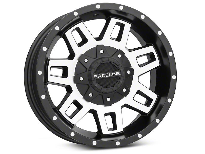 Raceline Injector Black Machined Wheel - 16x8 (87-95 Jeep Wrangler YJ)
