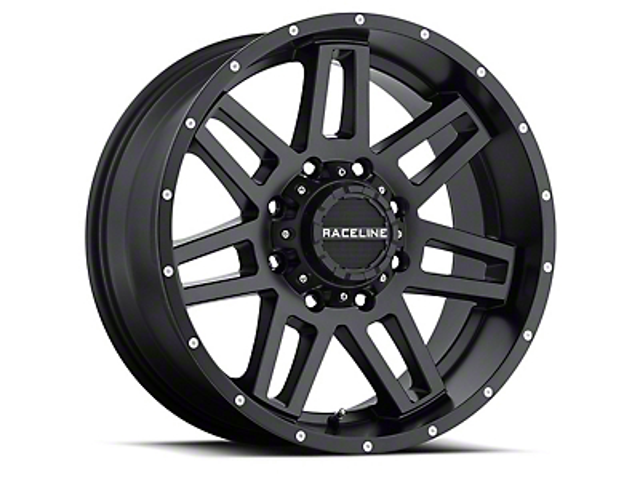 Raceline Injector Black Wheel - 20x12 (07-18 Wrangler JK; 2018 Wrangler JL)