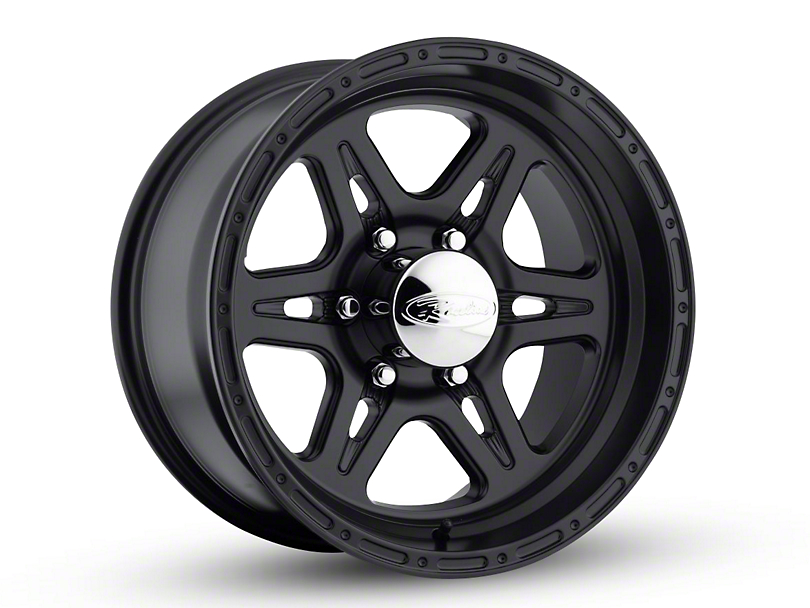 Raceline Renegade Black Wheel; 16x8 (87-95 Jeep Wrangler YJ)