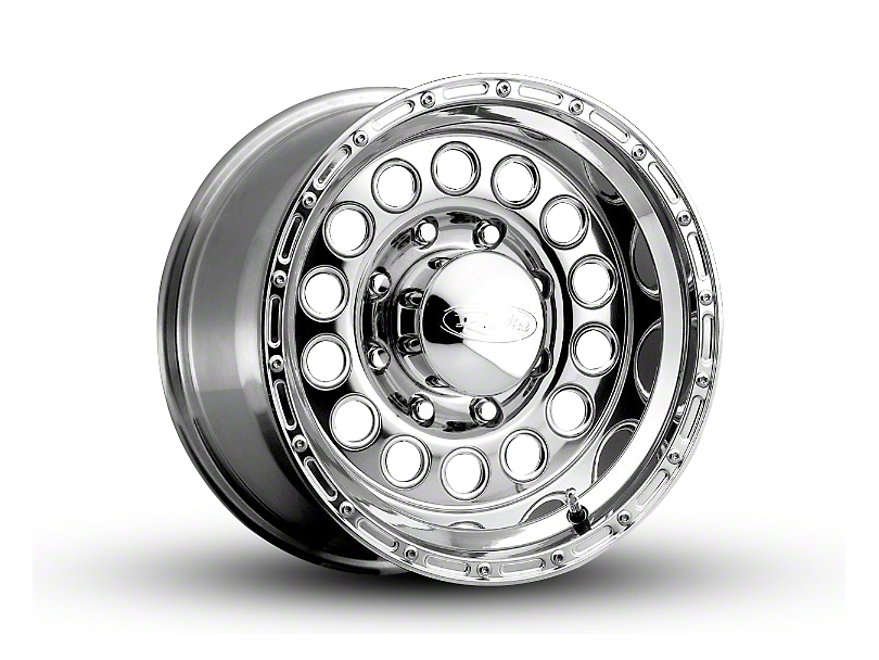 Raceline 887 Rockcrusher Polished Wheel; 16x8 (87-95 Jeep Wrangler YJ)