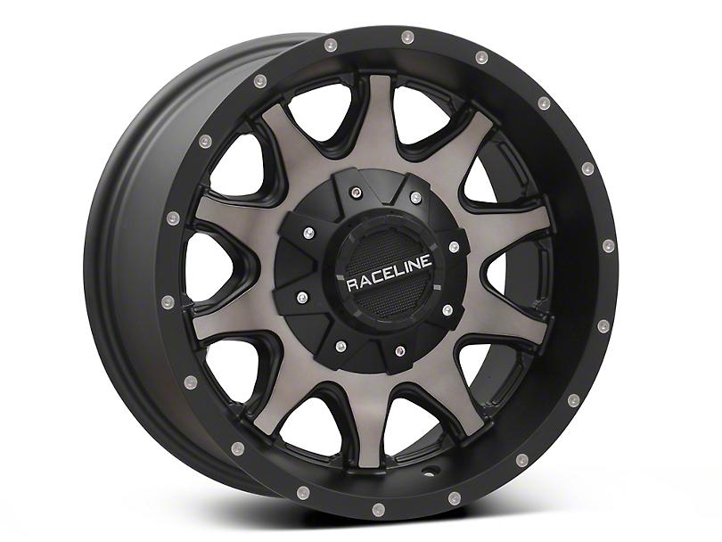 Raceline Shift Black Machined w/ Dark Tint Wheel - 16x8 (87-95 Jeep Wrangler YJ)