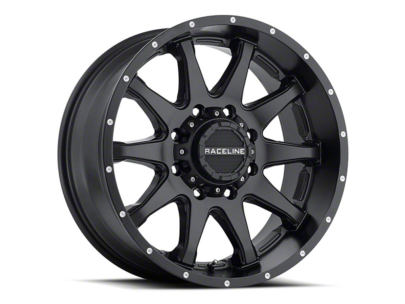Raceline Shift Black Wheel; 16x8 (87-95 Jeep Wrangler YJ)