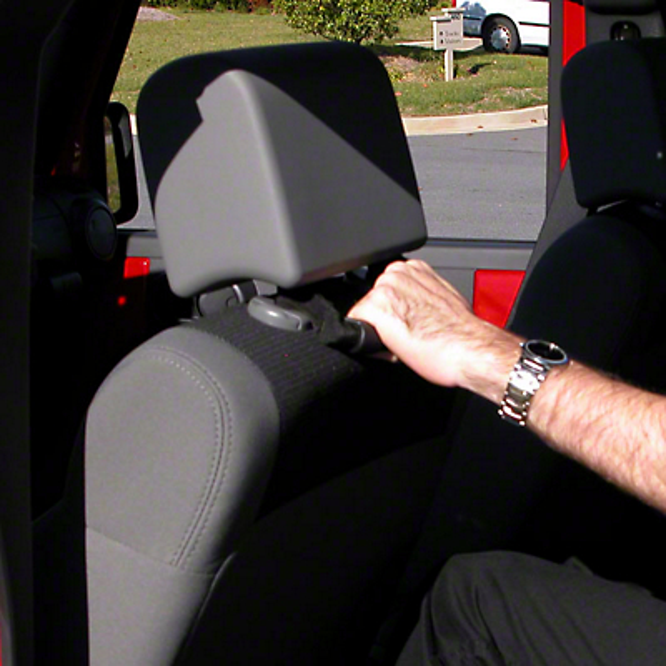 Rugged Ridge Back of Front Seat Mount Grab Handles - Black (07-18 Wrangler JK)