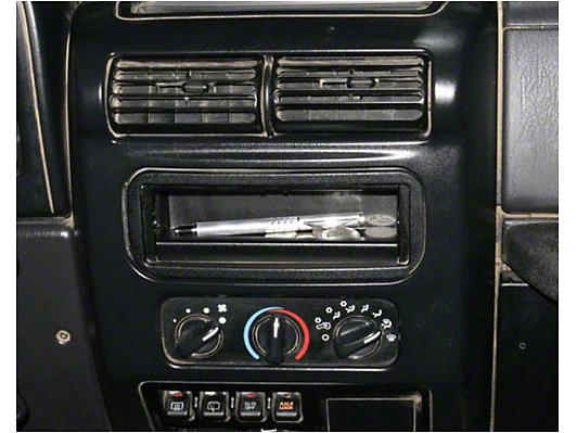 Tuffy Stereo Dash Cutout Cover Plate (87-95 Wrangler YJ)