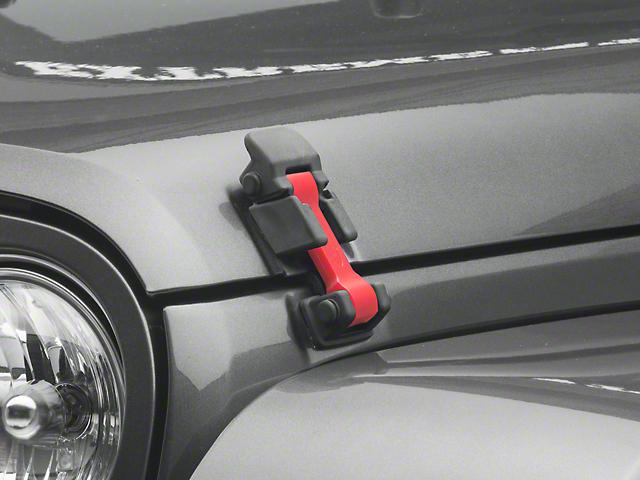 Daystar Hood Latch Upgrade - Red (07-18 Jeep Wrangler JK)