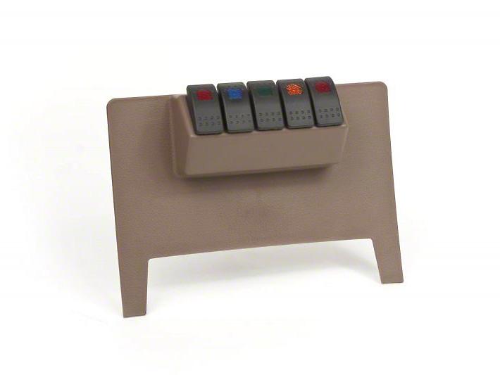 Daystar Lower Switch Panel - Tan (11-18 Jeep Wrangler JK w/ Automatic Transmission)