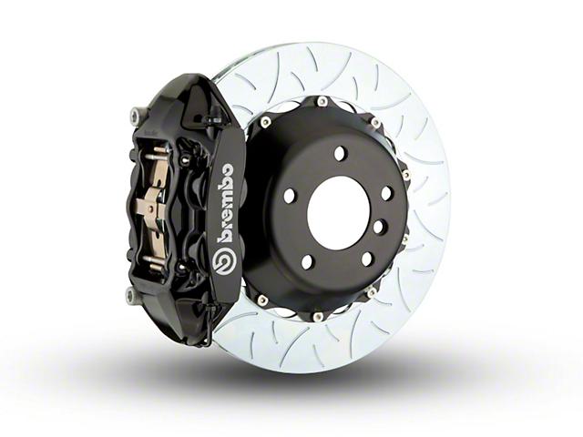 Brembo GT Series 4-Piston Rear Big Brake Kit w/ Type 3 Slotted Rotors; Black Calipers (07-18 Jeep Wrangler JK)