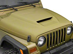 Cervini's Ram Air Hood; Unpainted (97-06 Jeep Wrangler TJ)