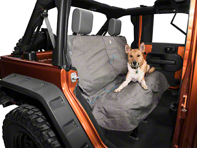 Kurgo Rear Bench Seat Cover - Heather - Gray (87-18 Wrangler YJ, TJ, JK & JL)