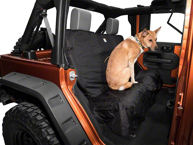 Kurgo Wander Rear Bench Seat Cover - Black (87-18 Wrangler YJ, TJ, JK & JL)