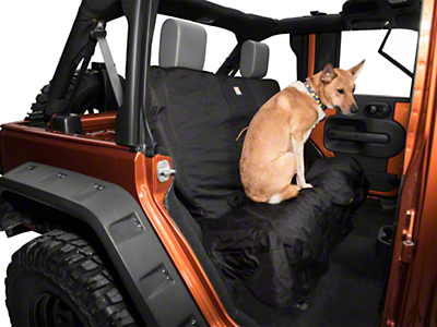Kurgo Wander Rear Bench Seat Cover - Black (87-18 Jeep Wrangler YJ, TJ, JK & JL)